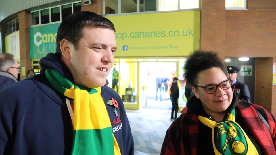 Rob Sanderson and Ray Collington of the Proud Canaries supporters group