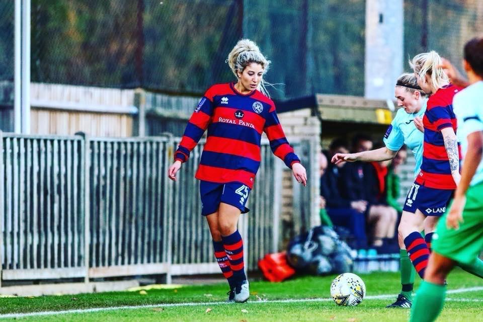 Samantha Miller in action for QPR ladies