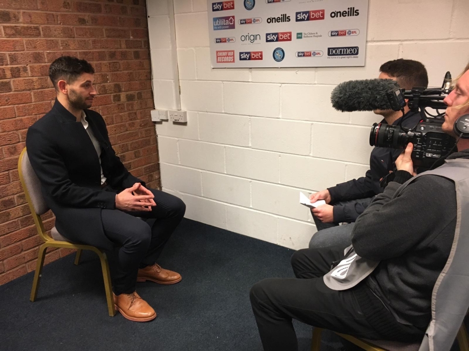 Jacobson speaking after his late winning goal against Donny