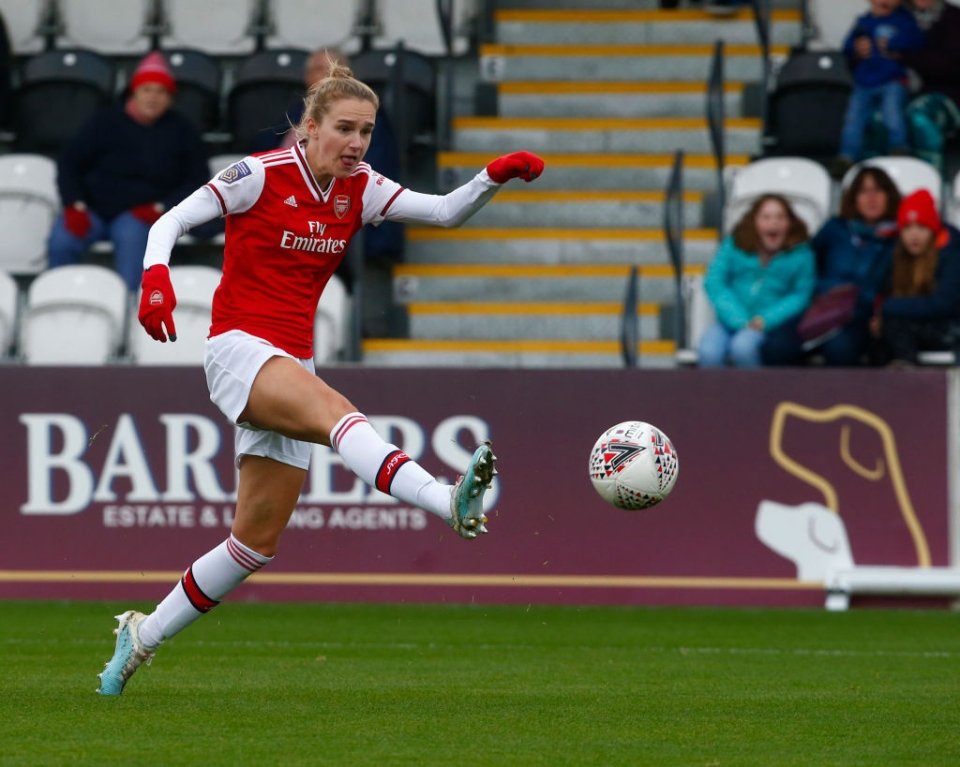 Vivianne Miedema will hope to continue her fine form this season against the Gunners' bitter rivals