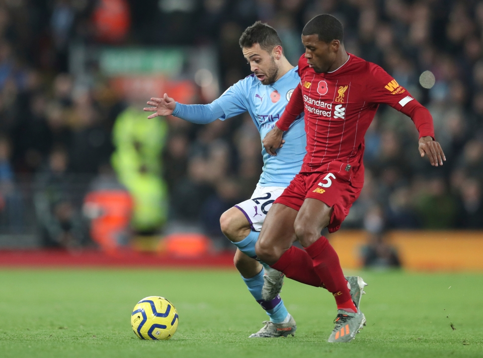 Wijnaldum dominated the City midfield