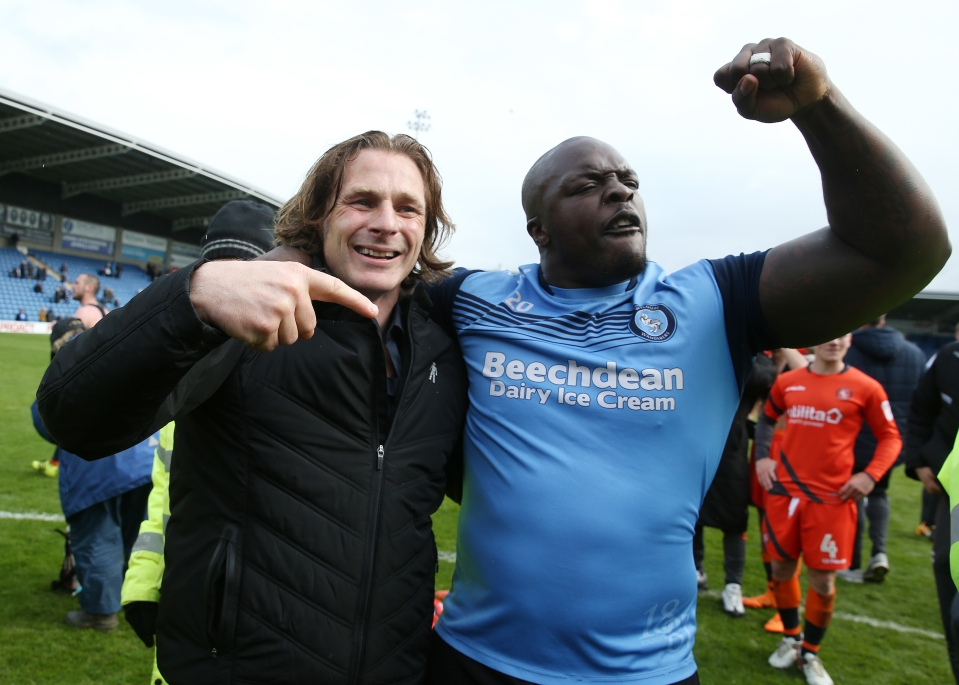 Ainsworth and Akinfenwa are part of the furniture at Wycombe