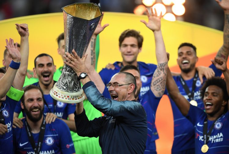 Sarri did give the Chelsea fans a parting gift in Baku