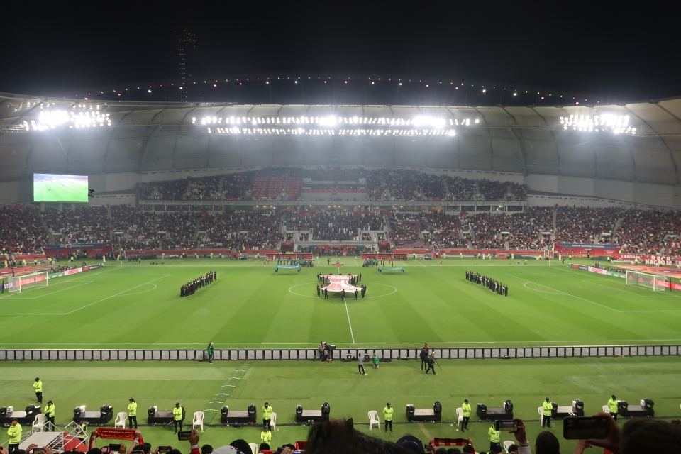 Many of the VIP seats at the Khalifa Stadium were left empty