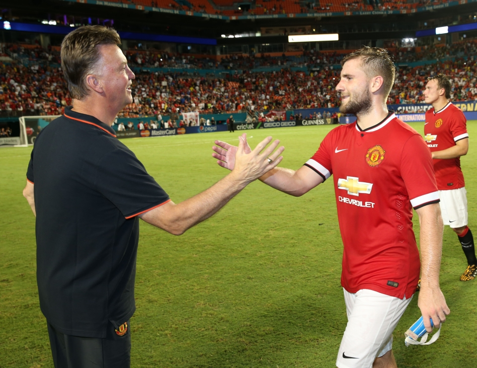 Shaw arrived at Old Trafford at the same time as Van Gaal