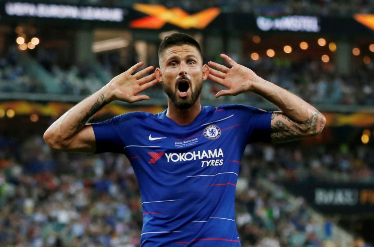 Giroud carried Chelsea to the Europa League last year