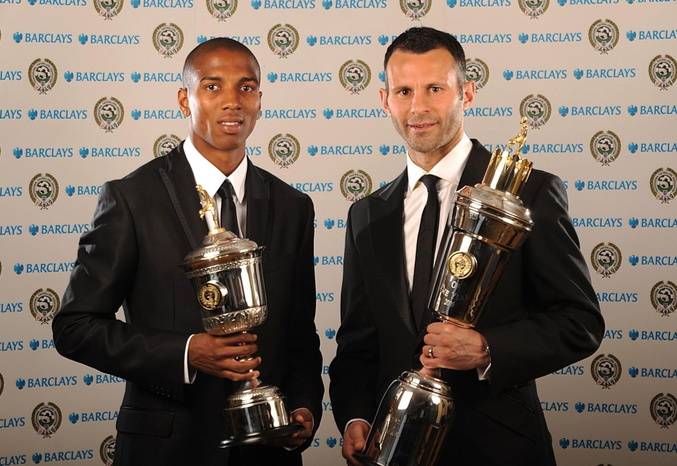 Ashley Young was named Young Player of the Year