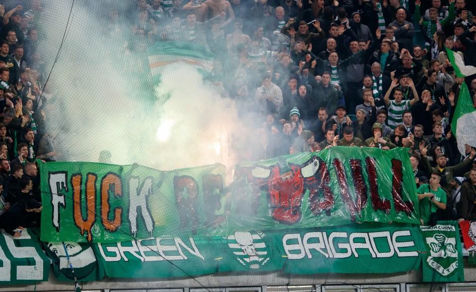 Even Celtic fans have taken aim at Leipzig
