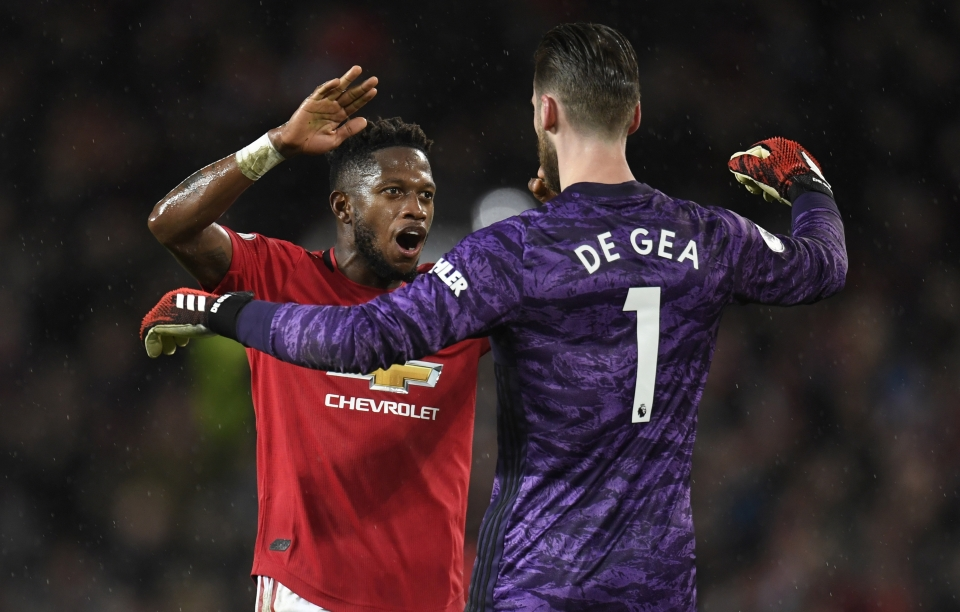 United were the ones celebrating after a dogged display at Old Trafford on Sunday
