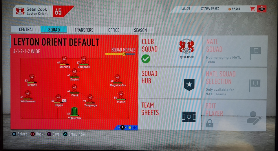 I still have nightmares about that 65 squad rating