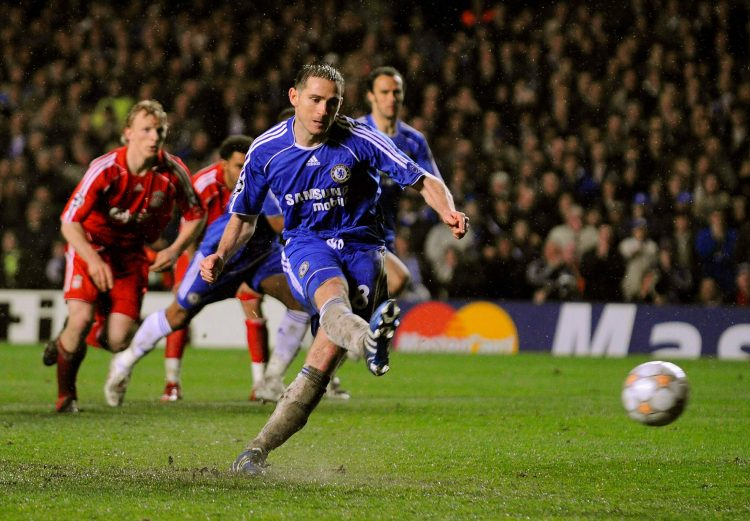 Lampard scored the decisive penalty in the second leg