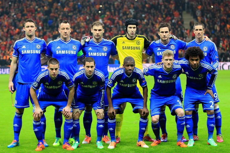 Lampard and Willian played together for the club