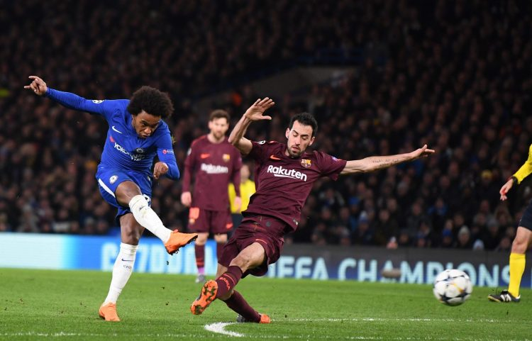 Willian shone and scored against Barcelona in 2018