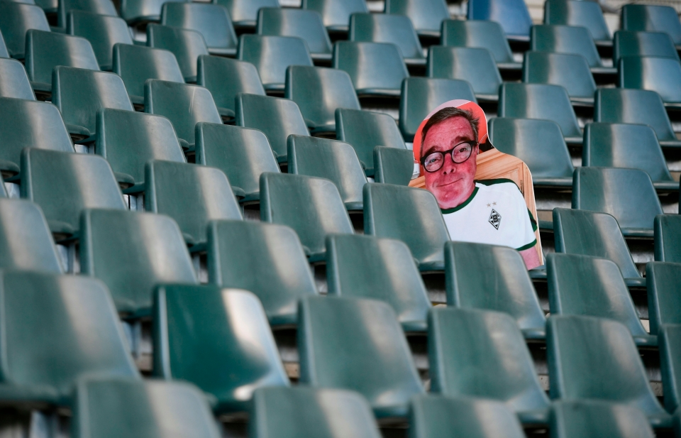 Empty stadiums are likely to become a hallmark of football for some months