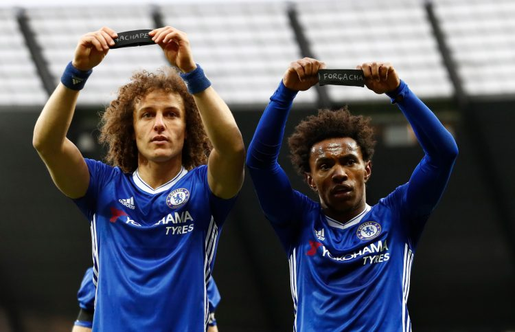 Willian could be playing with David Luiz again at Arsenal
