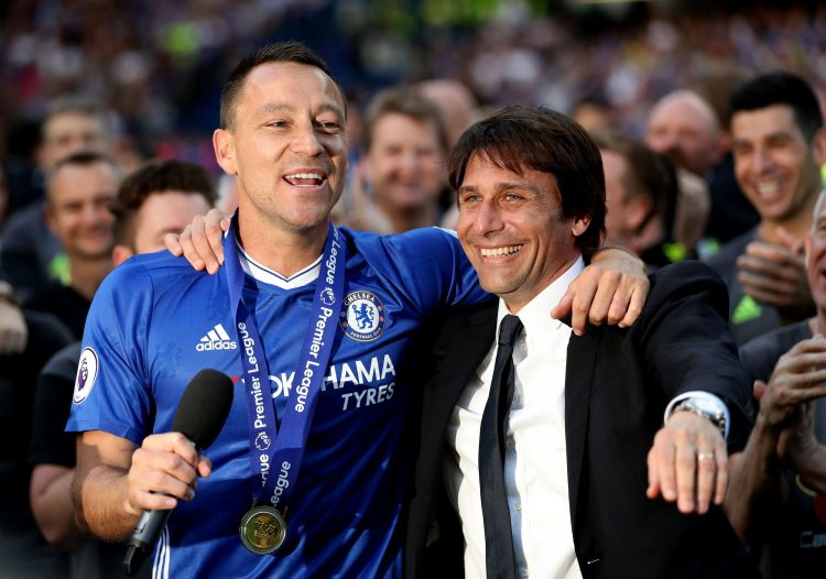 Terry played a bit-part under Conte
