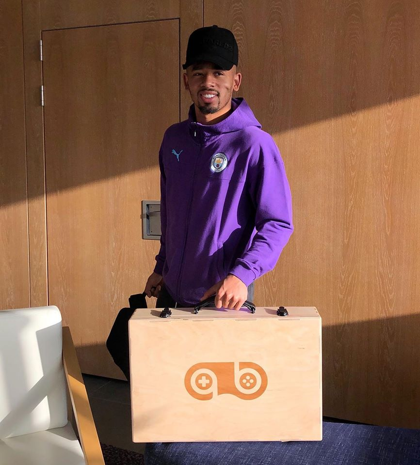 Man City star Gabriel Jesus is one of the many elite footballers who own a GameBoks