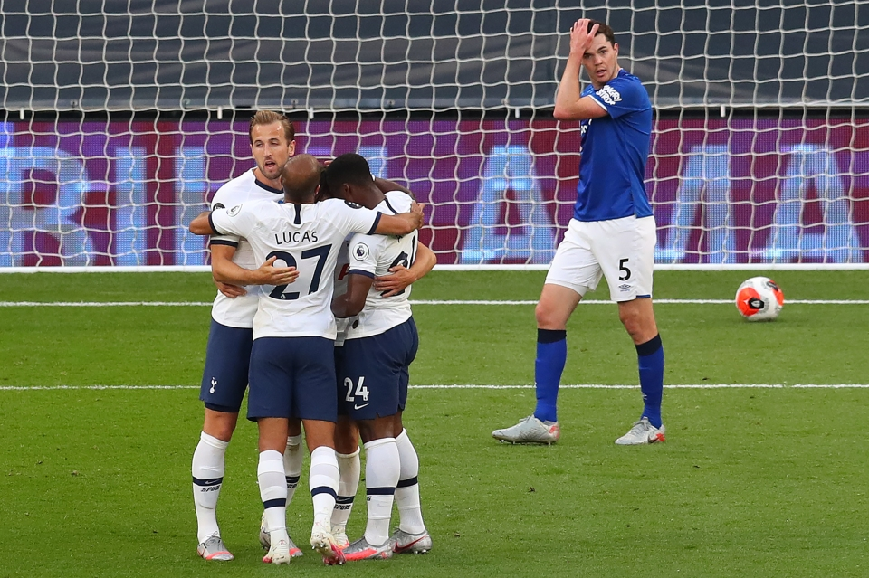 The own-goal gave Spurs the edge over Everton