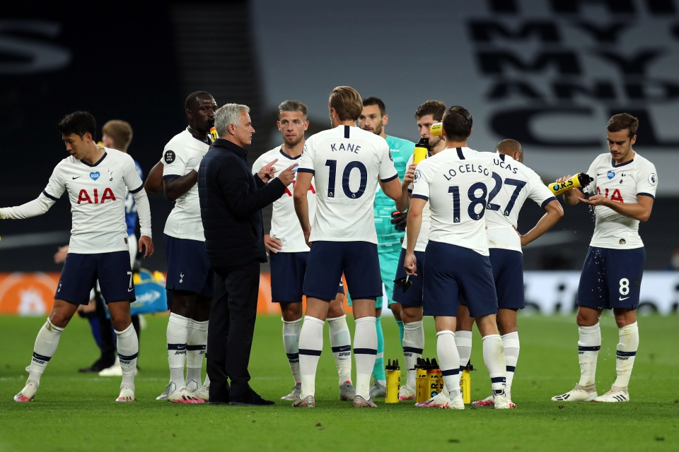 Mourinho was pleased with the fight his players showed against Everton in response to the defeat at Sheffield United