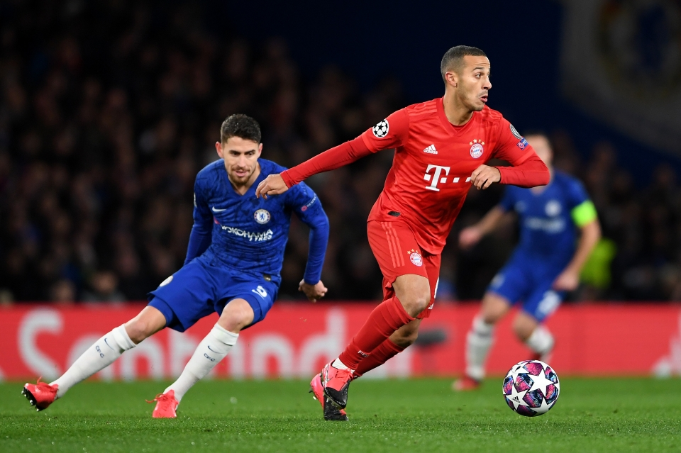 Thiago impressed at Stamford Bridge this season