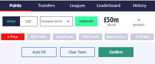 Click on the mint-coloured button in the Team Hub to activate Coach