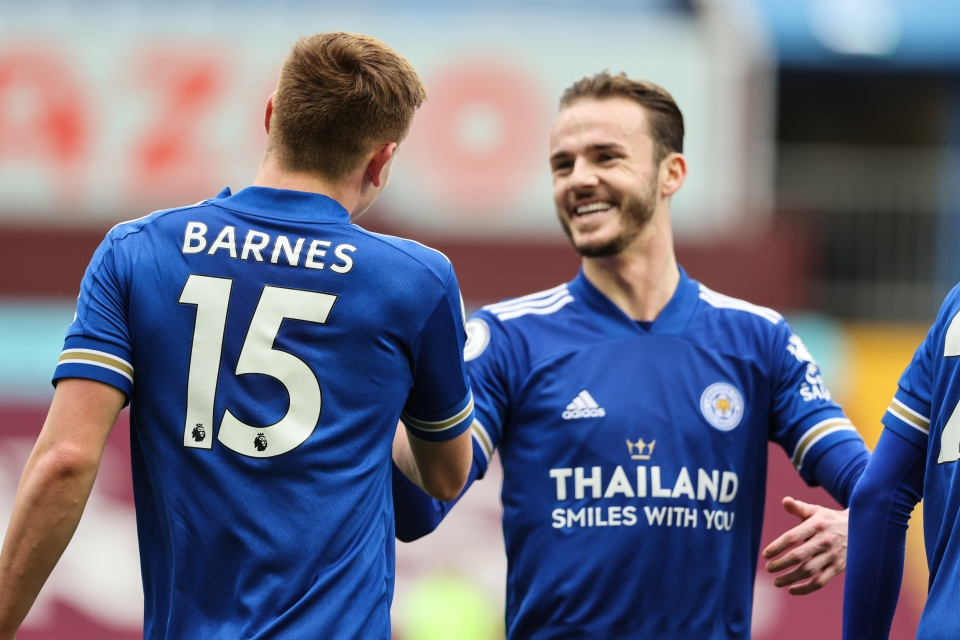 James Maddison (right) returns to action for Leicester