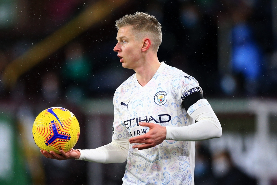 Zinchenko has 89 points at this stage of the season