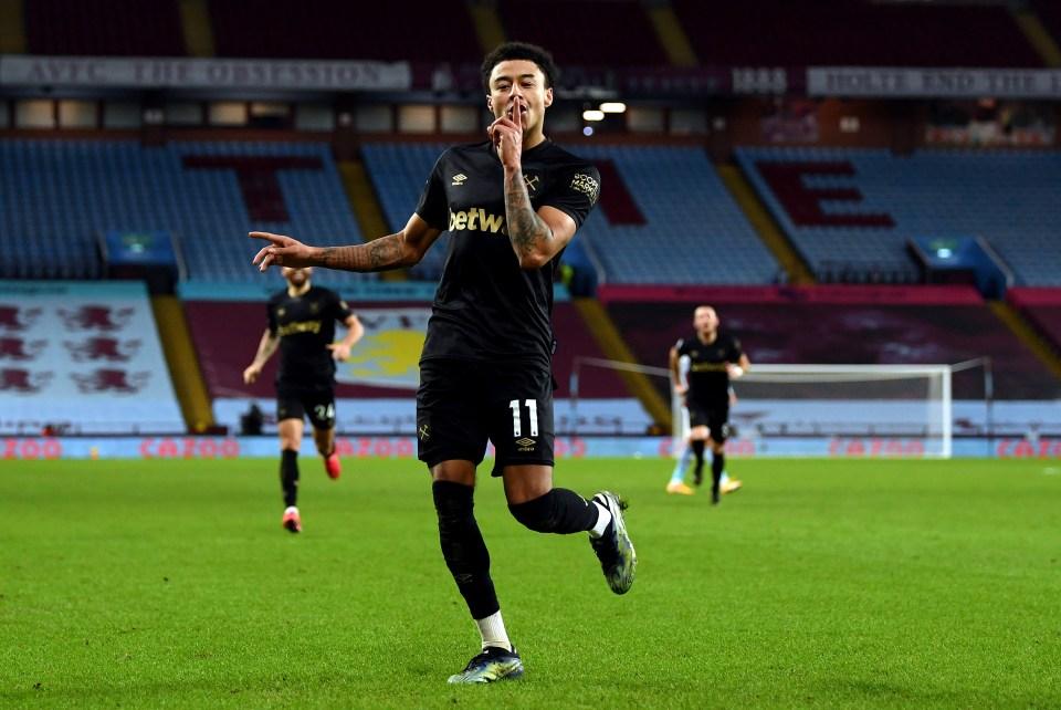 Jesse Lingard's brace against Aston Villa secured Anthony the jackpot