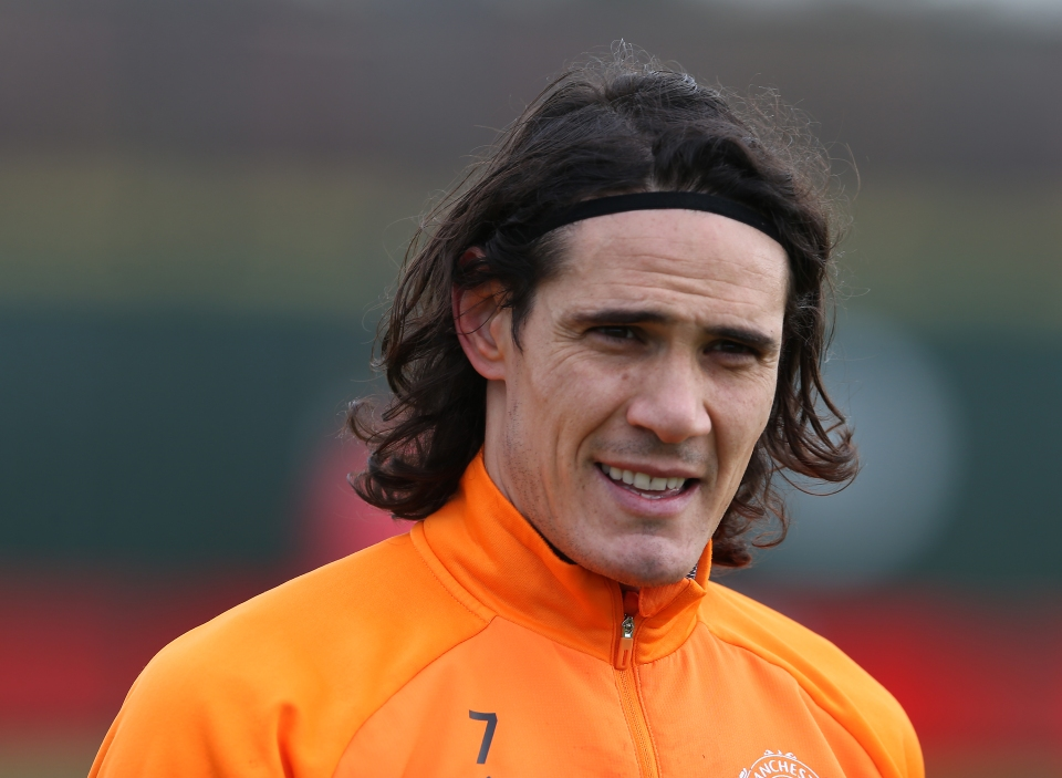 Edinson Cavani will probably play some part despite carrying a knock