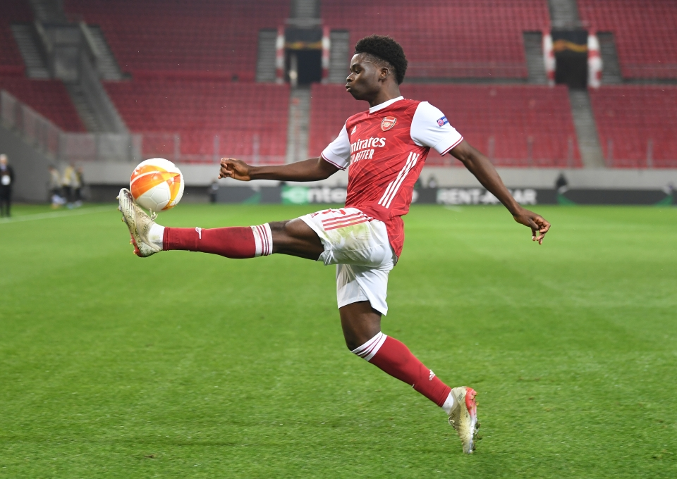 Saka brought up his hundred with an inspired Europa League performance