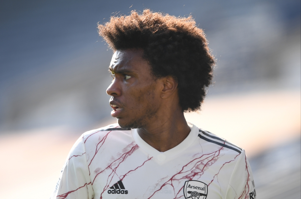 Arsenal playmaker Willian has scored just 36 points this season