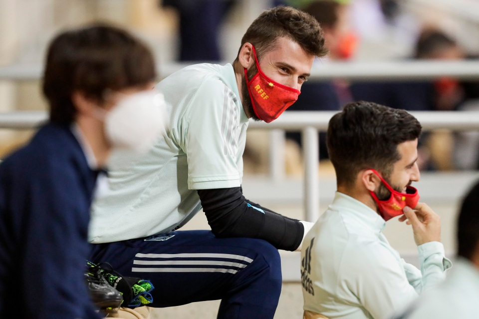 De Gea had some practice sitting on the bench during the international break