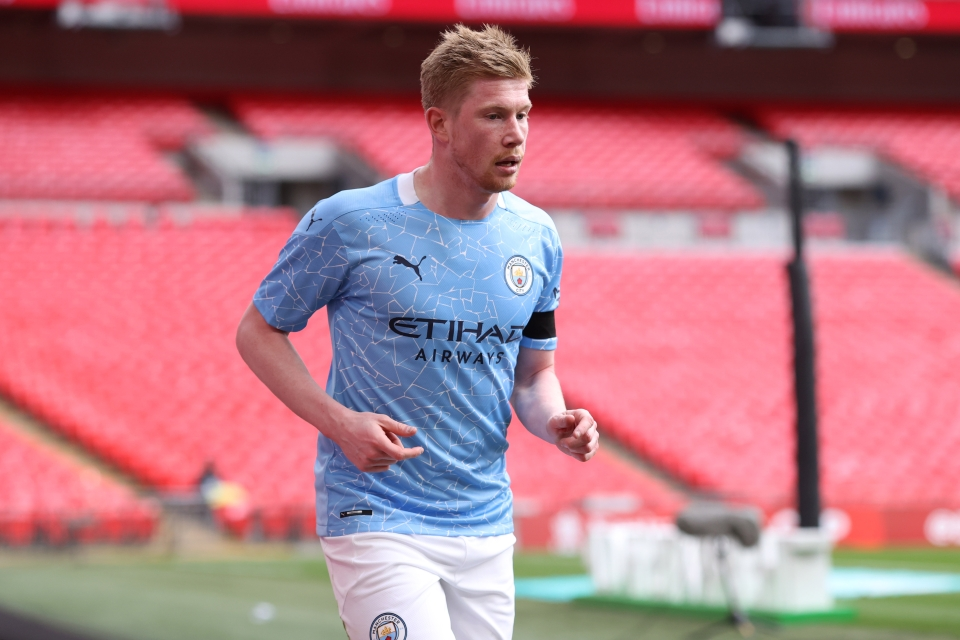 Kevin De Bruyne returned to training ahead of the Carabao Cup final