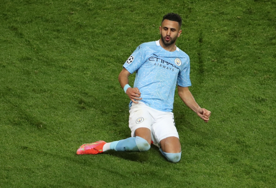 Riyad Mahrez fired Man City into the lead in the first leg