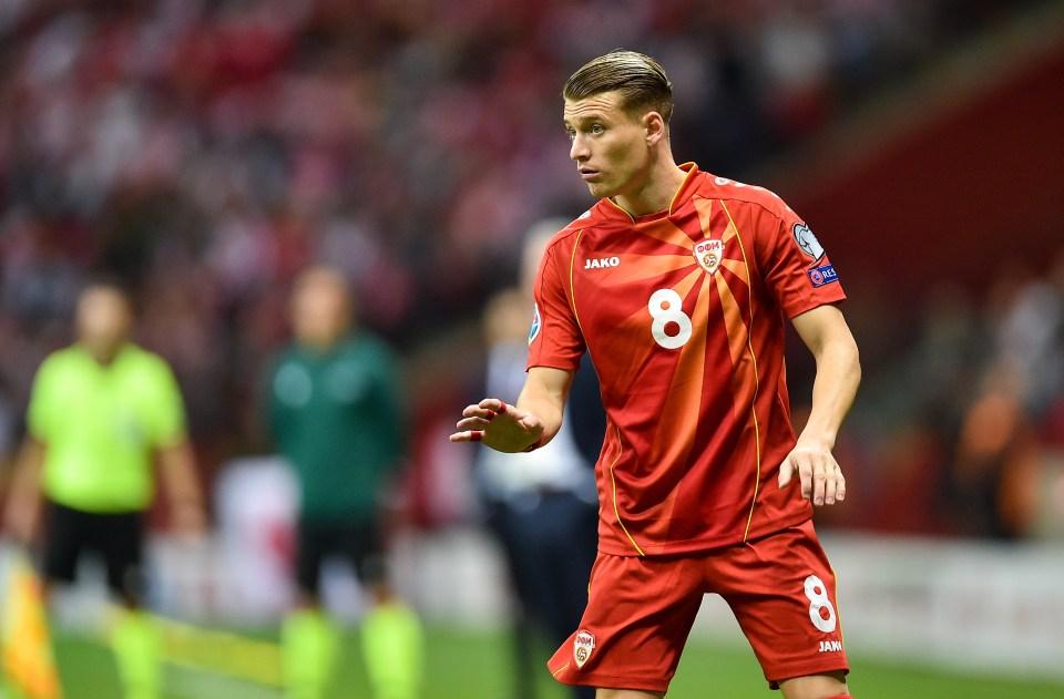 Leeds' Gjanni Alioski will be a familiar face among North Macedonia's squad