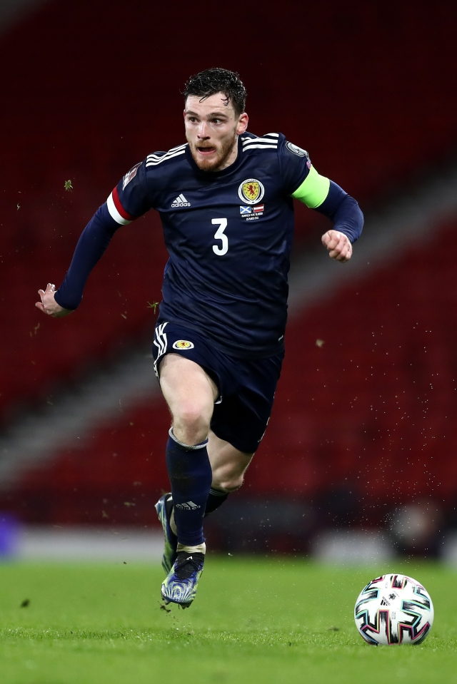 Andy Robertson will be hoping to help Scotland progress to the round of 16