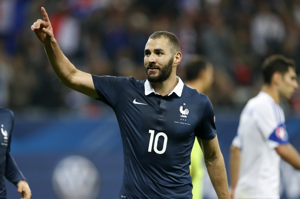 Benzema scored twice in his last appearance for France back in 2015