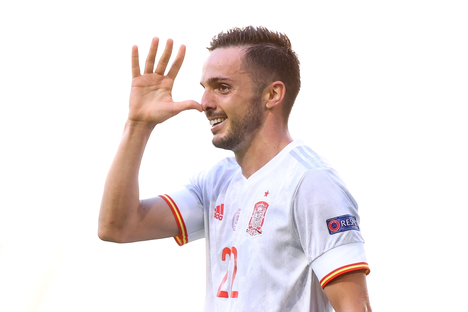 Sarabia starred against Slovakia and will be hoping to keep his place in the starting XI