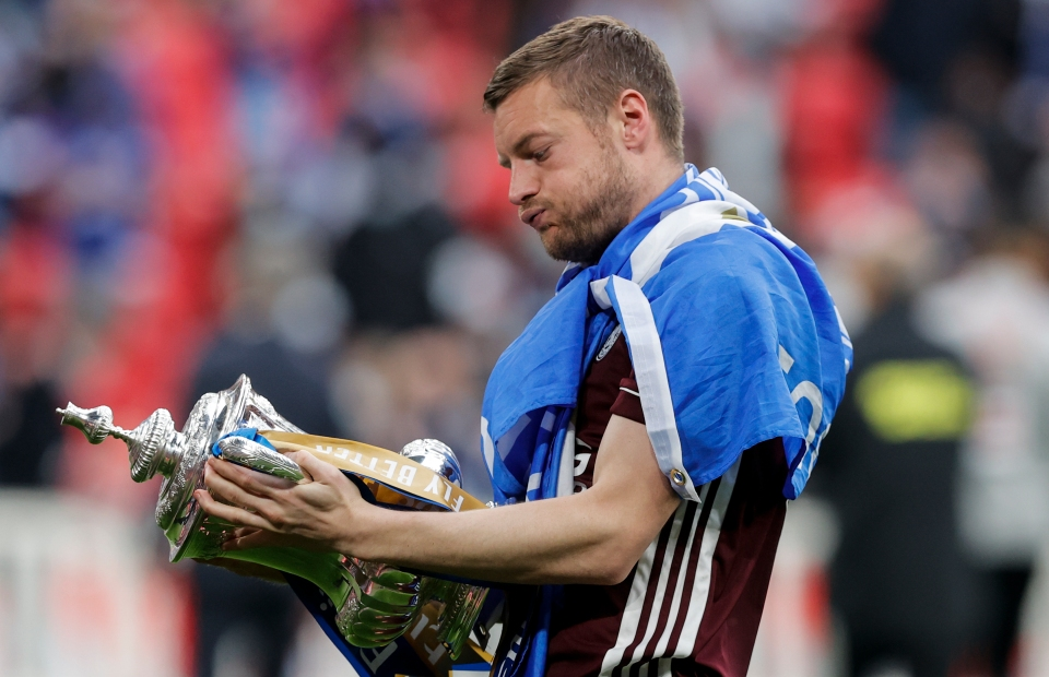 Vardy added an FA Cup to his trophy cabinet