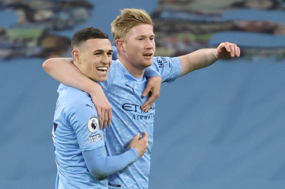 Man City midfielders accumulated more points than any other team last season