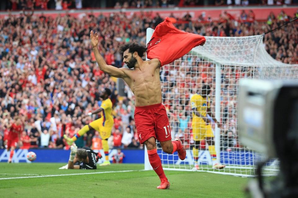 Salah has had plenty of reasons to celebrate so far this season