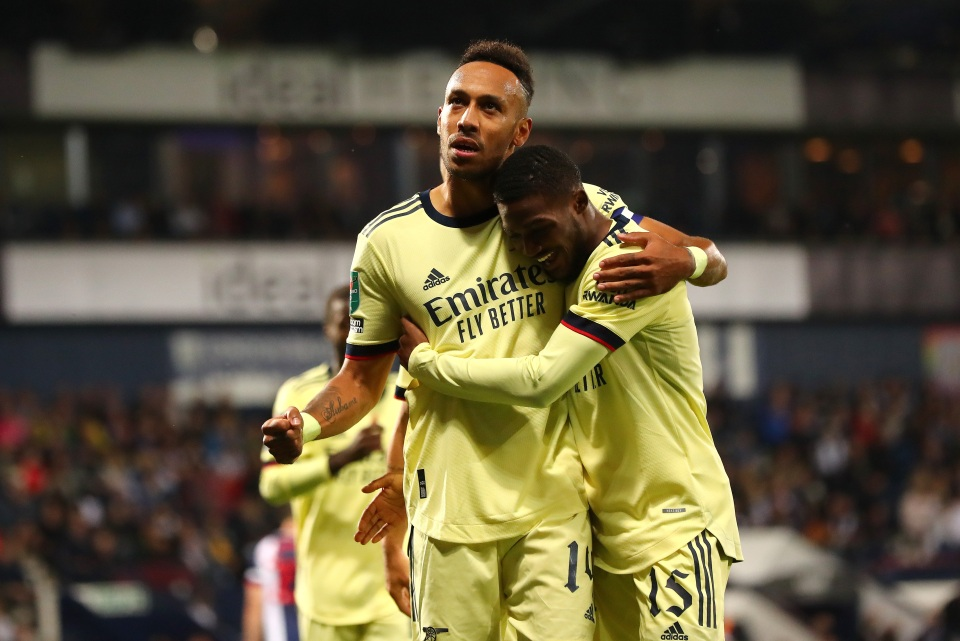 Aubameyang plundered 30 points in one fell swoop against the Baggies
