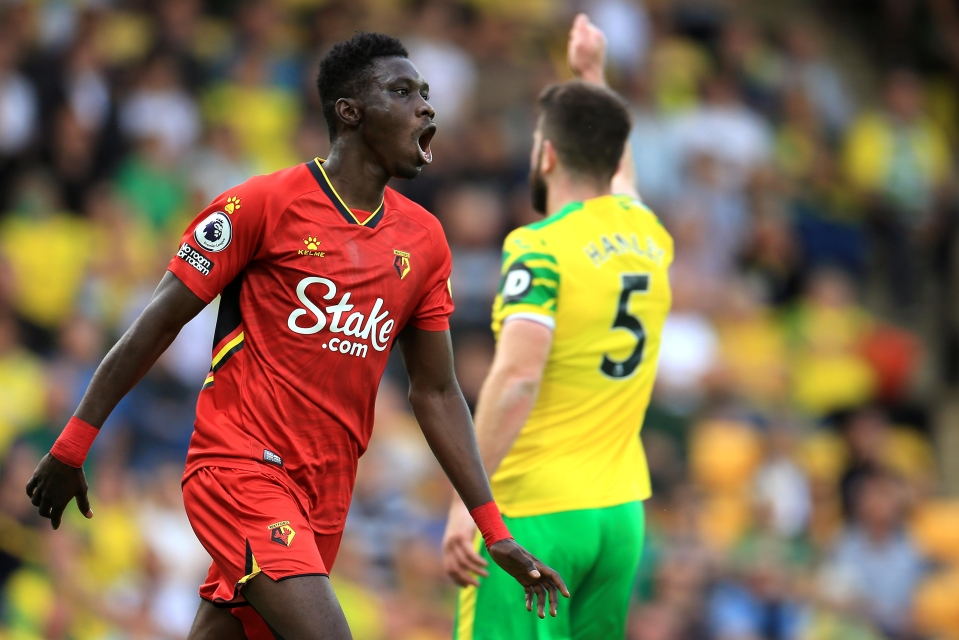 Sarr heaped more misery on Norwich last weekend