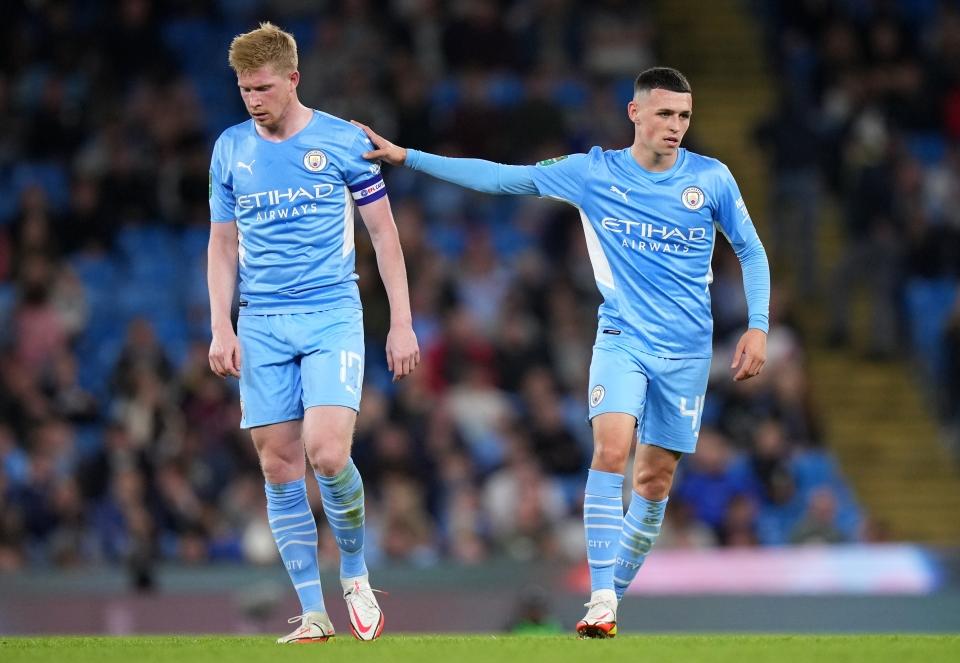 Both De Bruyne and Foden are catching up to the rest after recovering from injury